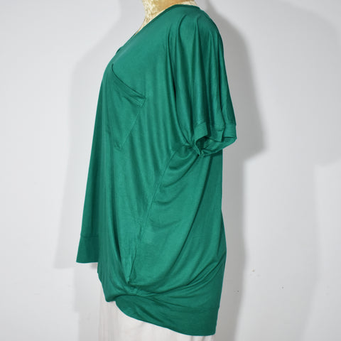 Womens V-Neck Batwing Top