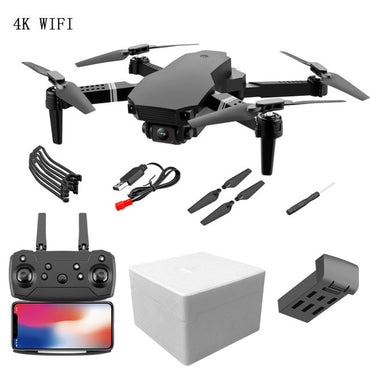(Global Shop) Mini RC Drone With 4K Dual Camera HD Quadcopter