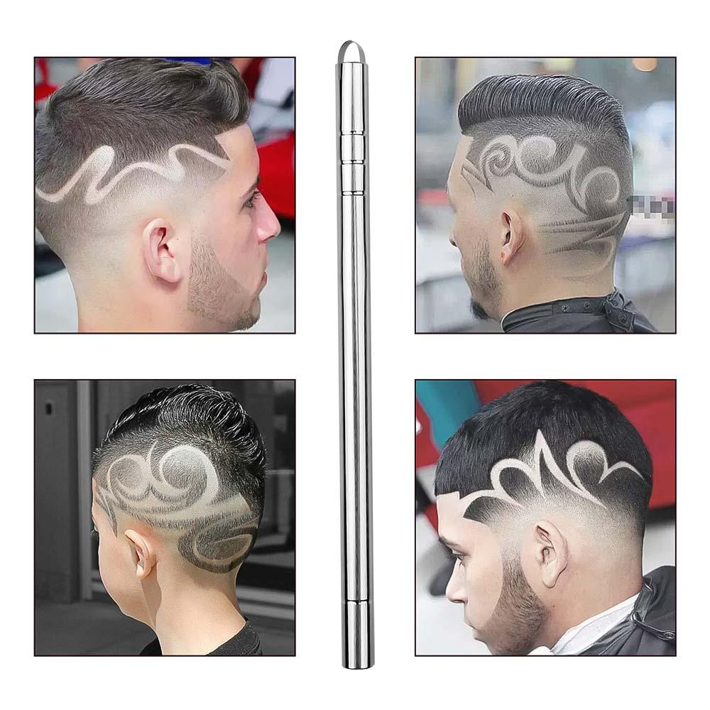 HOT 1 Pen with 10 Blades Hair Carving Pen Magic Oil Head Notch Man Hair Refined Steel Pen Barber Eyebrow Shaving Shave - My Life