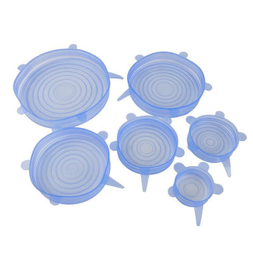 (Global Shop) 6Pcs/set Easy to Use Stretchable Kitchen Food Cover Lids