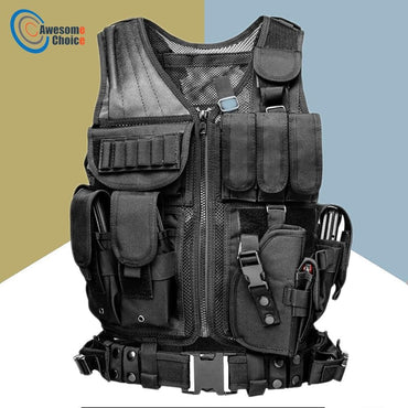 High Quality Tactical vest security outdoor training combat CS field protection vest For Paintball Game SWAT Team - My Life