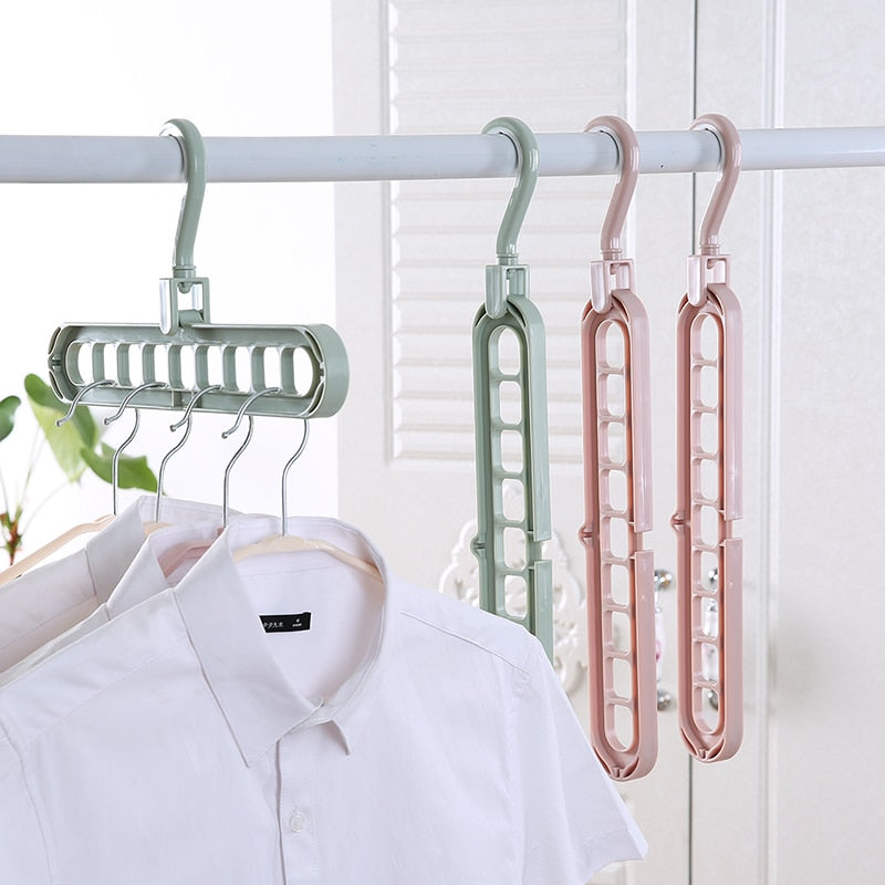 (Global Shop) Clothes Hanger Drying Plastic Storage Rack