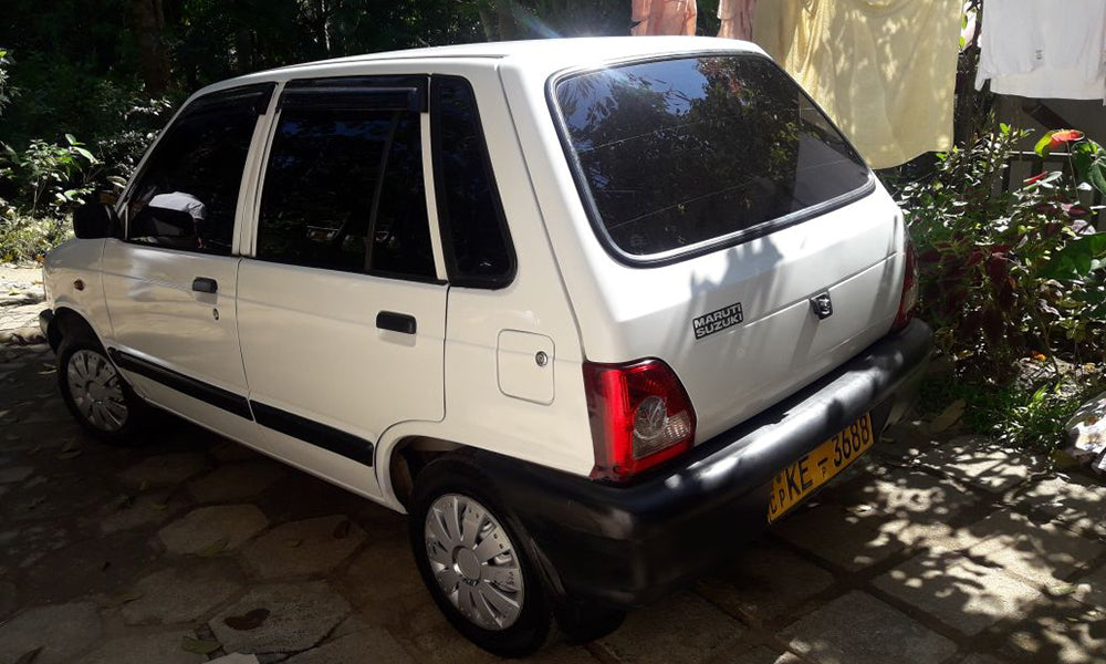 Maruti 800 White Color Car for Rent