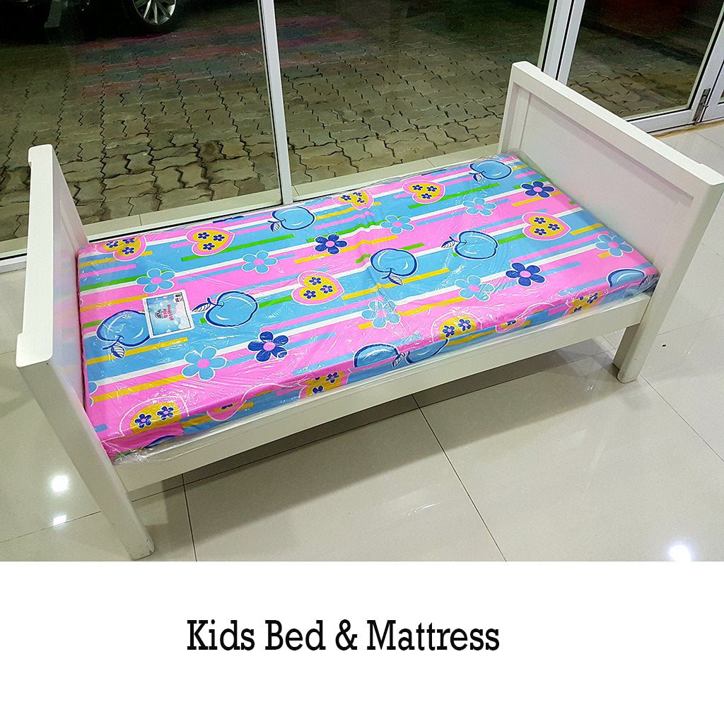Painted Kids Bed & Mattress