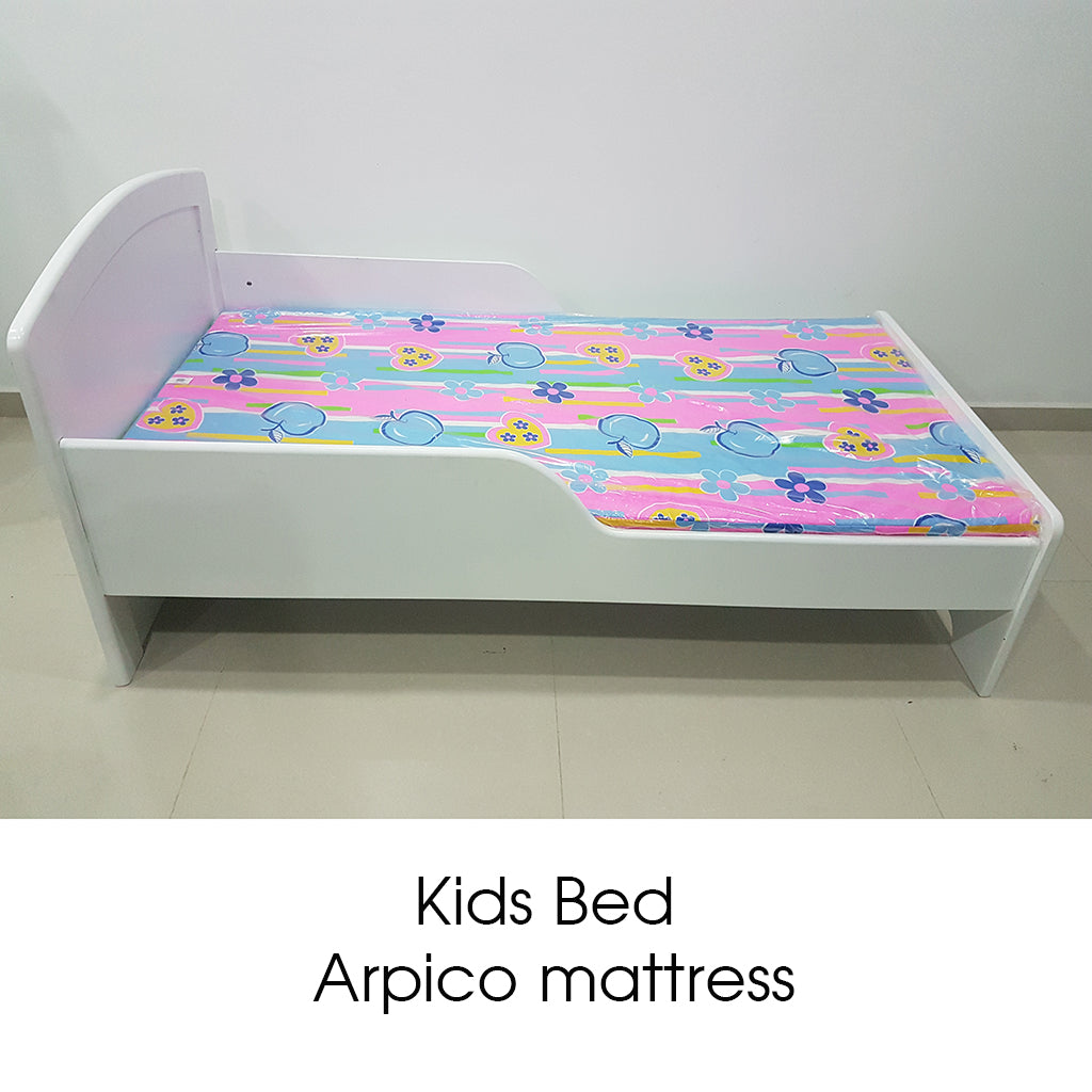 Painted Kids Bed & Arpico Colorful Mattress