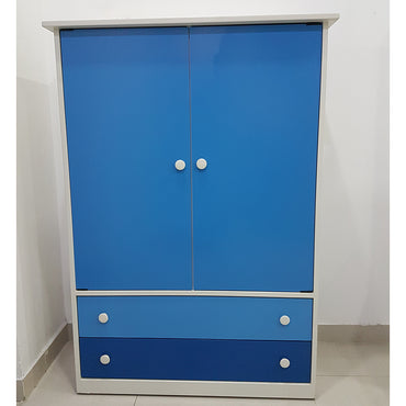Blue & White Color Painted MDF Kids Cupboard - Jaydy Furniture - mylife-sa.myshopify.com