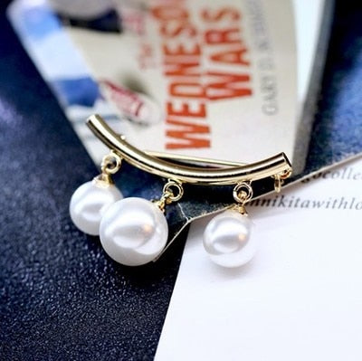 KingDeng Mermaid Pin Korean Simple Pearl Cute Brooch Women's Accessories Kpop Brooches for Women Pins Enamel Pin jewelry - My Life