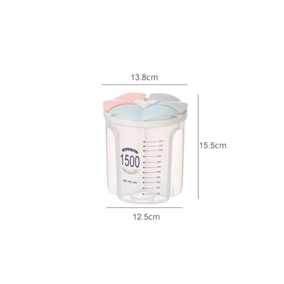 (Global Shop) Kitchen Food Storage Sealed Tank Transparent Box