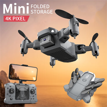 (Global Shop) Mini Drone With 4k Camera HD Foldable Quadcopter