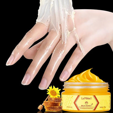 LAMILEE Milk Honey Hand Mask Hand Wax Moisturizing Whitening Skin Care Exfoliating Calluses Hand Film Hands Care Cream 110g - My Life
