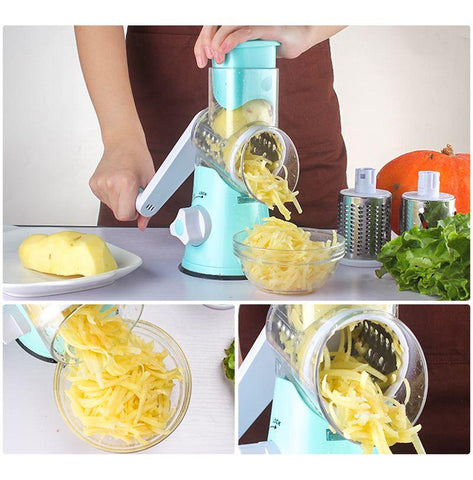 Lekoch Vegetable Cutter Kitchen Gadgets Fruit Slicer Grater Shredder Manual Multifunctional Kitchen Accessories Potato Cheese - My Life