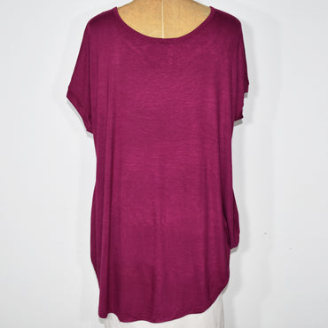 Womens Solid Color Cocoon Top