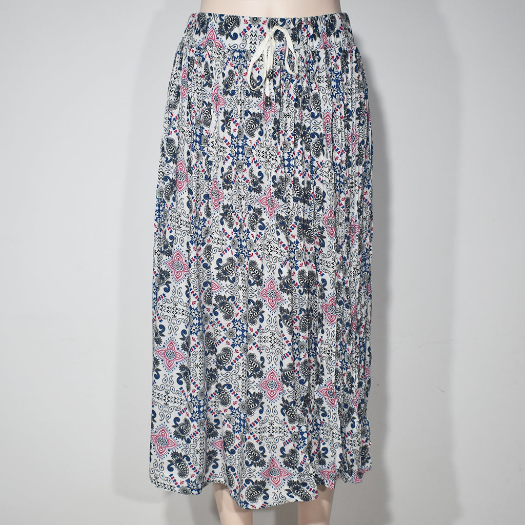 Mix Printed Women Skirts with Cord - Deshanee Dress Point - mylife-sa.myshopify.com