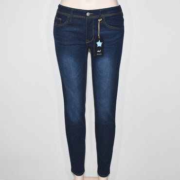 Blue Color Women Denim Trouser