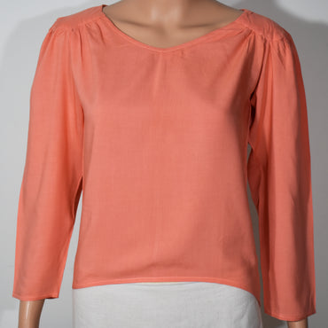 Solid Color Long Sleeve V-neck Drop Shoulder Top - Deshanee Dress Point - mylife-sa.myshopify.com