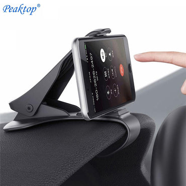 Peaktop Car Phone Holder Dashboard Mount Universal Cradle Cellphone Clip GPS Bracket Mobile Phone Holder Stand for Phone in Car - My Life