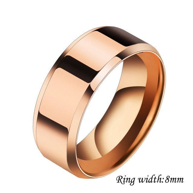 (Global Shop) Unisex Stainless Steel Engraved Name Rings