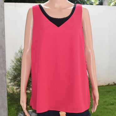 Sleeveless Solid Color Women Blouse