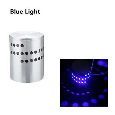 RGB Spiral Hole LED Wall Light Effect Wall Lamp With Remote Controller Colorful Wandlamp For Party Bar Lobby KTV Home Decoration - My Life