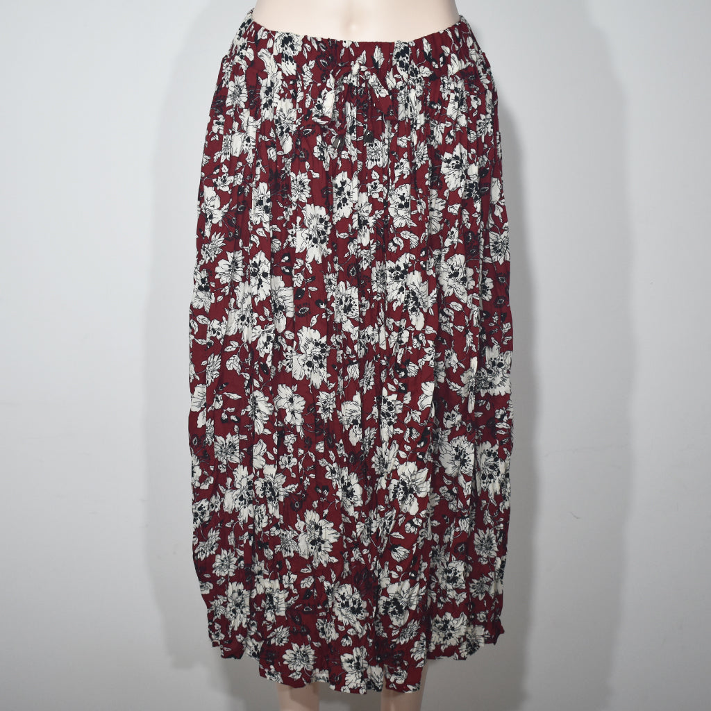 Flower Printed Elastic Waist Women Skirts - Deshanee Dress Point - mylife-sa.myshopify.com