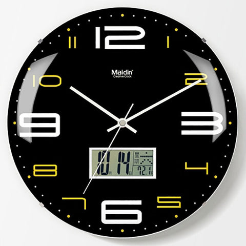 Round Living Room Wall Clock Lcd Quartz Creative Modern Silent Large Digital Wall Clock Best Selling 2019 Products - My Life