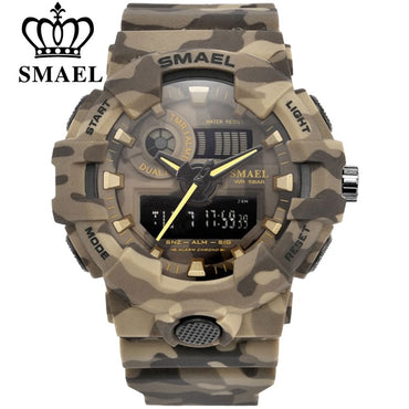 (Global Shop) Military Army Digital Wristwatch LED Men Sport Watch