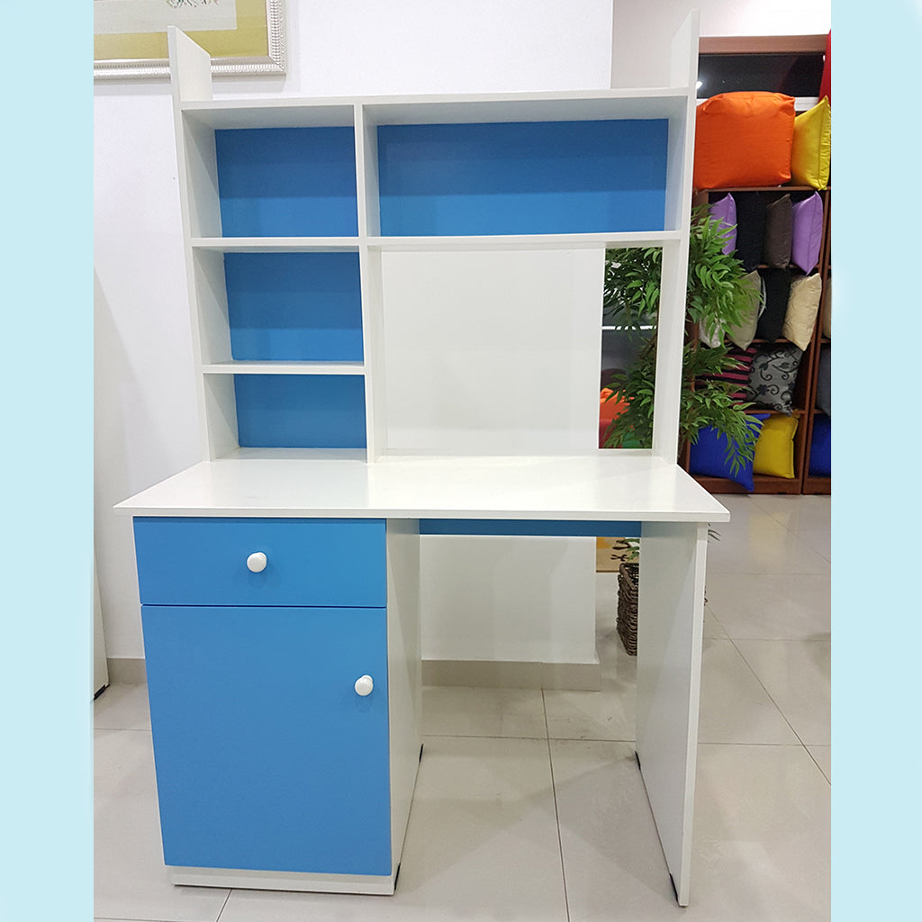 Blue & White Painted MDF Kids Study Table