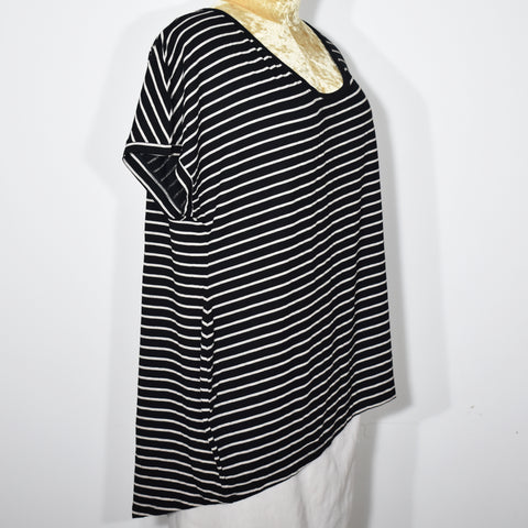 Womens Stripes Cocoon Top