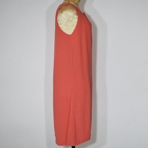 Orange Sleeveless Solid Color Women Dress - Deshanee Dress Point - mylife-sa.myshopify.com