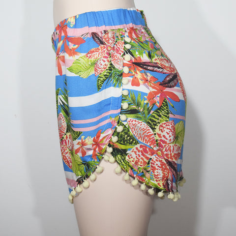 Printed Pom Pom Women Hot Short - Deshanee Dress Point - mylife-sa.myshopify.com