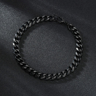 (Global Shop) Punk Men Stainless Steel Link Chain Bracelets
