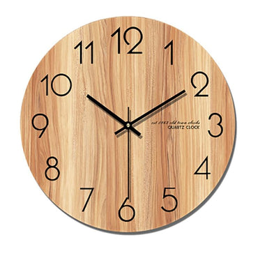Silent Modern Watch Wall Clock Kitchen Vintage Wood Muted Saat Wall Watch Modern Design Reloj De Pared Living Room Decoration - My Life