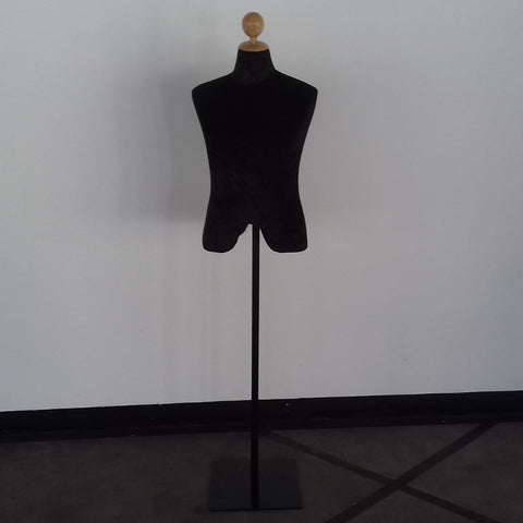(Special Ad) Black Fabric Male Full Height Dummy Mannequin