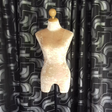 (Special Ad) Cream Color Fabric Female Full Height Dummy Mannequin