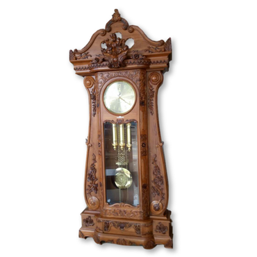 Antique Style Teak Wood Big Grandfather Clock - Dambulu Furniture - mylife-sa.myshopify.com