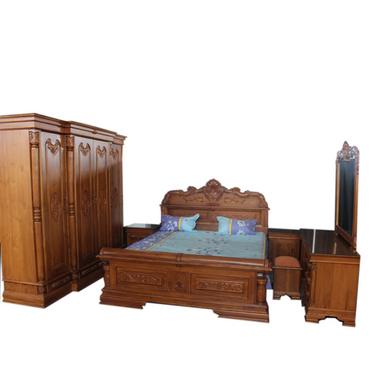 Antique Style Teak Wood Bedroom Set 02 - Dambulu Furniture - mylife-sa.myshopify.com