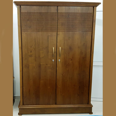 Double Door Teak Wood Wardrobe - Jaydy Furniture - mylife-sa.myshopify.com