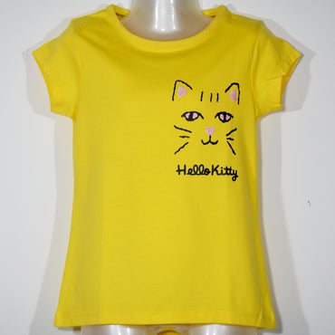 (Wholesale Only) Hello Kitty Printed Girls T-Shirt