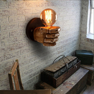 (Global Shop) Rustic Art Resin Fist Elegant Wall Lamp