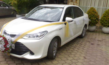 Toyota Axio White Color Car for Hire
