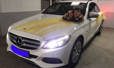 White Color Luxury Benz Car for Hire - L.M.G. Travels - mylife-sa.myshopify.com