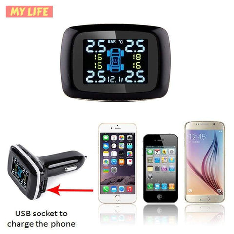 (Global Shop)  Wireless Smart Digital Tire Pressure Monitoring System - TotG - mylife-sa.myshopify.com