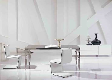 (Global Shop) Modern New Stainless Steel Dining Room Set