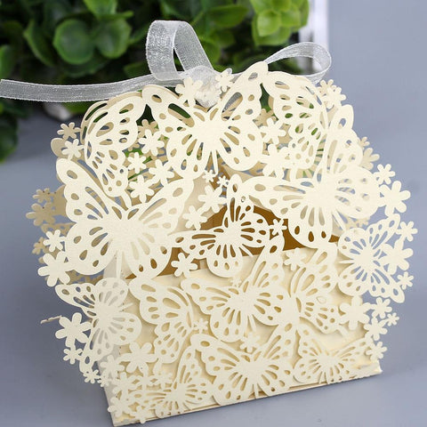 (Global Shop) 50pcs/lot  Butterfly Creative Romantic Marriage Candy Cake Boxes - AIHOME - mylife-sa.myshopify.com