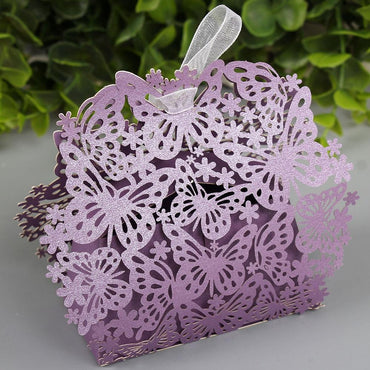 (Global Shop) 50pcs/lot  Butterfly Creative Romantic Marriage Candy Cake Boxes