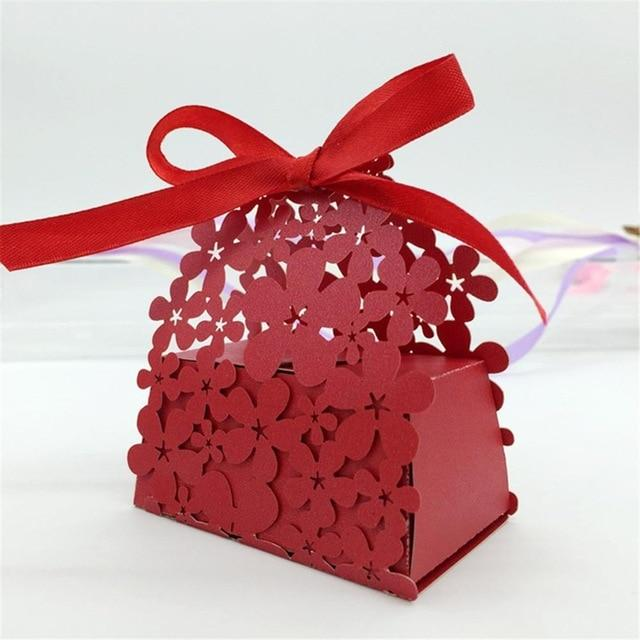 (Global Shop) 50Pc/lot Flower Pattern Cardboard Laser Cut Paper Boxes - AIHOME - mylife-sa.myshopify.com