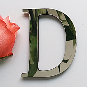 (Global Shop) New Acrylic Mirror 3D Letter Wall Stickers