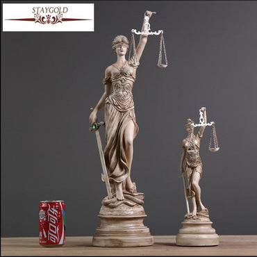 (Global Shop) Ancient Greek Goddess Of Justice Themis Resin Statue - Eternal Household Artware - mylife-sa.myshopify.com