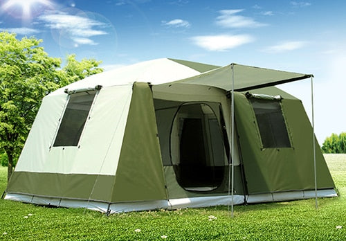 (Global Shop) Ultralarge Two Bedroom Waterproof Camping Gazebo Tent - Shanju Camping Equipment - mylife-sa.myshopify.com
