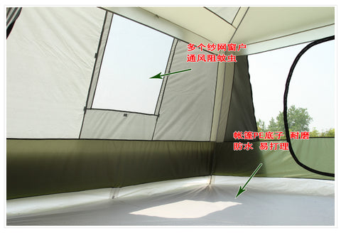 (Global Shop) Ultralarge Two Bedroom Waterproof Camping Gazebo Tent